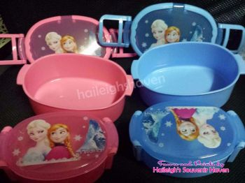 LUNCH BOX (Oval, 2-pc set): DISNEY FROZEN