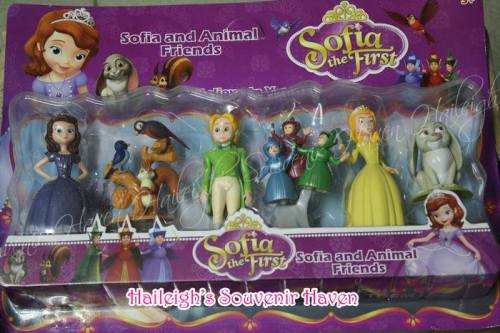Sofia the First 6-pc Cake Topper Toy Set