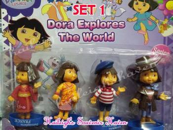 CAKE TOPPER TOY SET - DORA SET #1