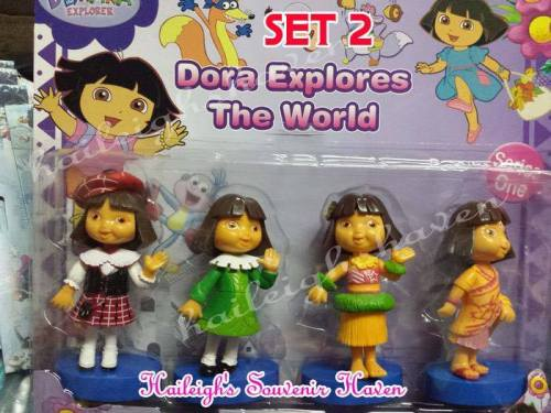 Dora Cake Topper 4-pc Toy Set 2