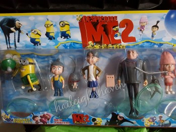 CAKE TOPPER TOY SET - MINIONS SET #1