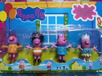 CAKE TOPPER TOY SET - PEPPA PIG SET #2(GEORGE PIG)