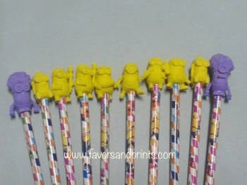 PENCIL AND TOPPER SET: MINIONS (12s)