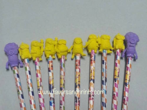 Minions Pencil and Topper Set (10s)