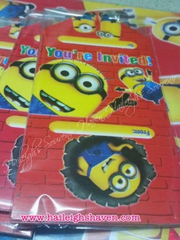 INVITES (Ready Made): Minions