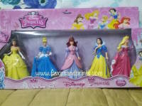 CAKE TOPPER TOY SET - DISNEY PRINCESS (5s)