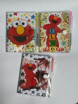 MINI-NOTEBOOK WITH PEN (ELMO)