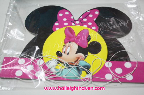 Minnie Mouse Party Hats (Die-Cut)