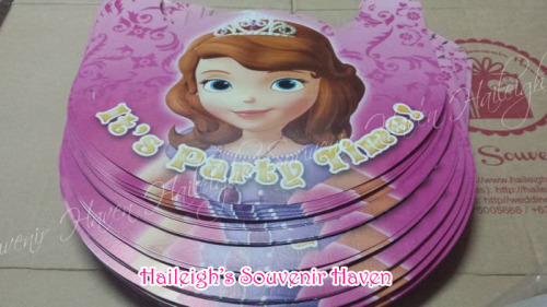 Sofia the First Party Hats (Regular)