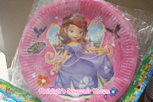 Sofia the First Paper Plates