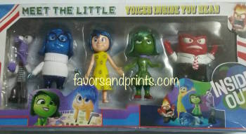 CAKE TOPPER TOY SET - INSIDE OUT
