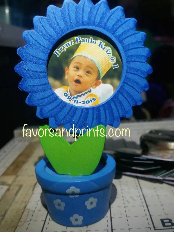 Flower Pot Frame (Blue)