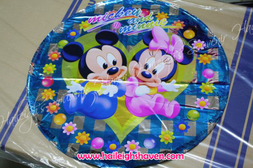Baby Mickey and Minnie Foil Balloon