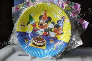 PAPER PLATES [10s]: MICKEY ONLY [or WITH FRIENDS]