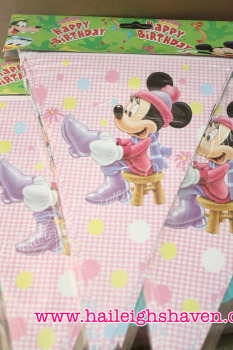 FLAG BANNER / BANDERITAS: MINNIE MOUSE