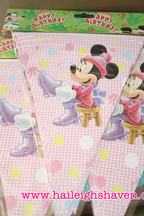 Minnie Mouse Flag Banner / Banderitas