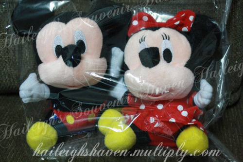 Mickey and Minnie Mouse Stuffed Toy (Seated)