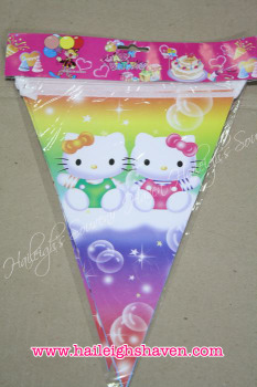 FLAG BANNER / BANDERITAS: HELLO KITTY