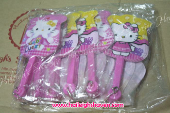 FOLDING FAN (12s): HELLO KITTY