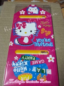 INVITES (Ready Made): Hello Kitty