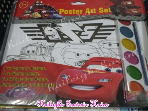 Disney Cars Poster Art Set