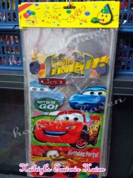 LOOT BAGS (LONG, NO HANDLE): DISNEY CARS