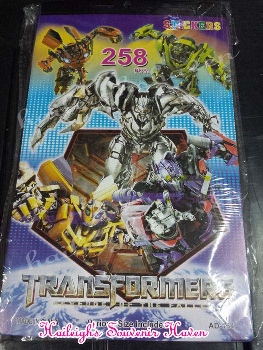 Transformers Sticker Book