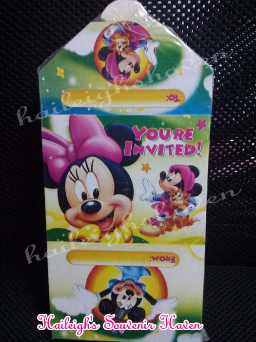 Minnie Mouse Invites (Ready Made)