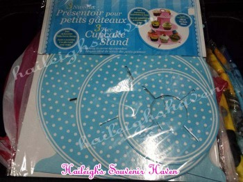 CUPCAKE STAND [3 layers]: POLKA BLUE