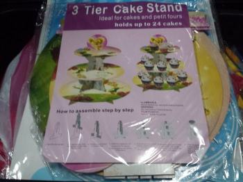 CUPCAKE STAND [3 layers]: TINKERBELL