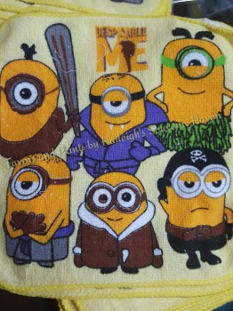 FACE TOWEL (12s): MINIONS