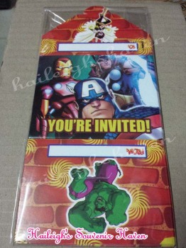 INVITES (Ready Made): Avengers