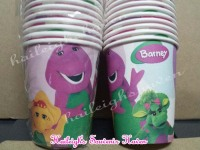 PAPER CUPS [10s]: BARNEY AND FRIENDS