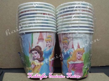 PAPER CUPS [10s]: DISNEY PRINCESS