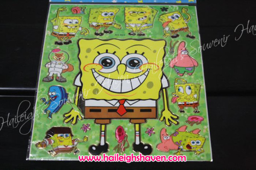 Spongebob Laser Sticker