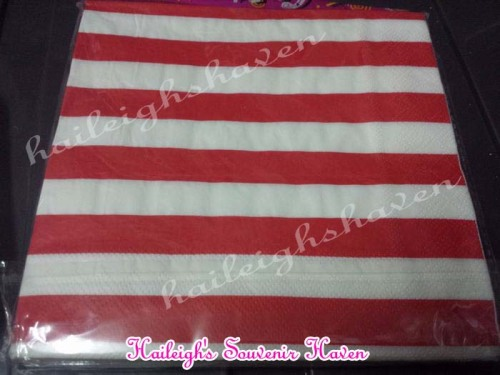 Table Napkins (STRIPED RED)