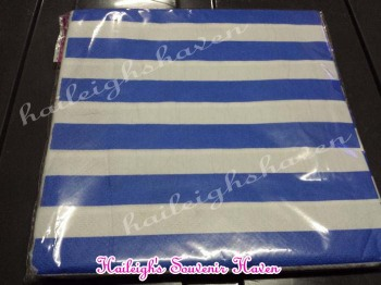 TABLE NAPKINS: STRIPED BLUE