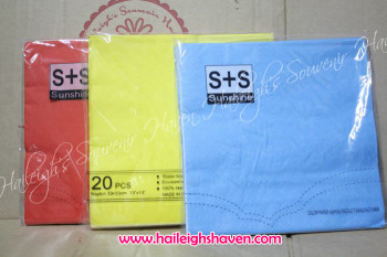 TABLE NAPKINS: PLAIN COLORS