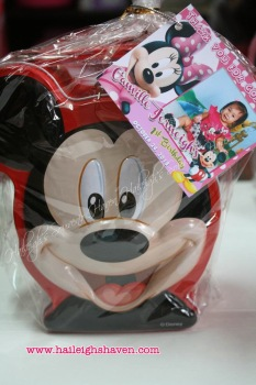 COIN BANK (TIN): MICKEY MOUSE (ASSORTED COLORS)