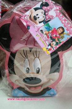 COIN BANK (TIN): MINNIE MOUSE (ASSORTED COLORS)