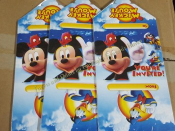 INVITES (Ready Made): Mickey Mouse