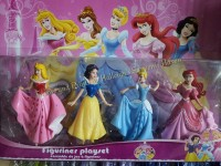 CAKE TOPPER TOY SET - DISNEY PRINCESS (4s)
