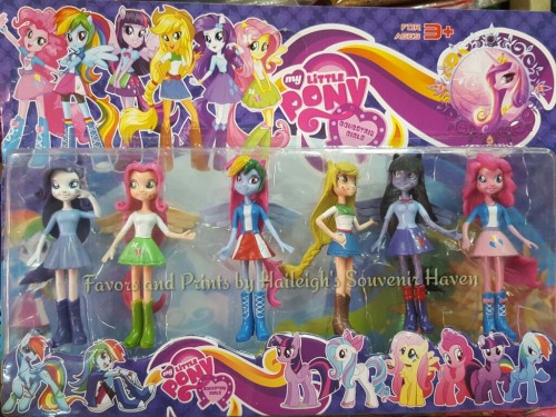 Little Pony Equestria Girls Cake Topper 6-pc Toy Set