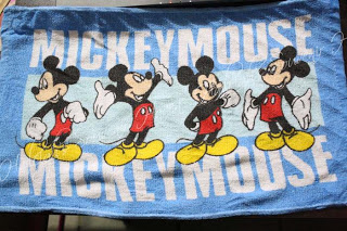 HAND TOWEL PACK (12S): Mickey Mouse (Blue)