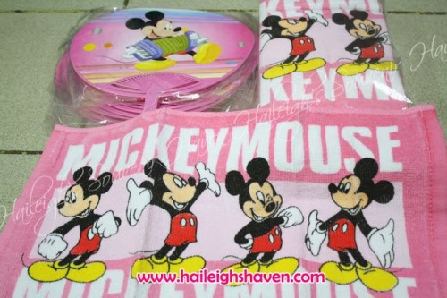 HAND TOWEL PACK (12S): Mickey Mouse (Pink)
