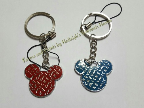KEY CHAIN (METAL): Mickey Mouse Head