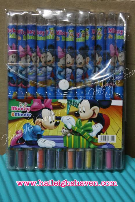Mickey and Minnie Rolling Crayons