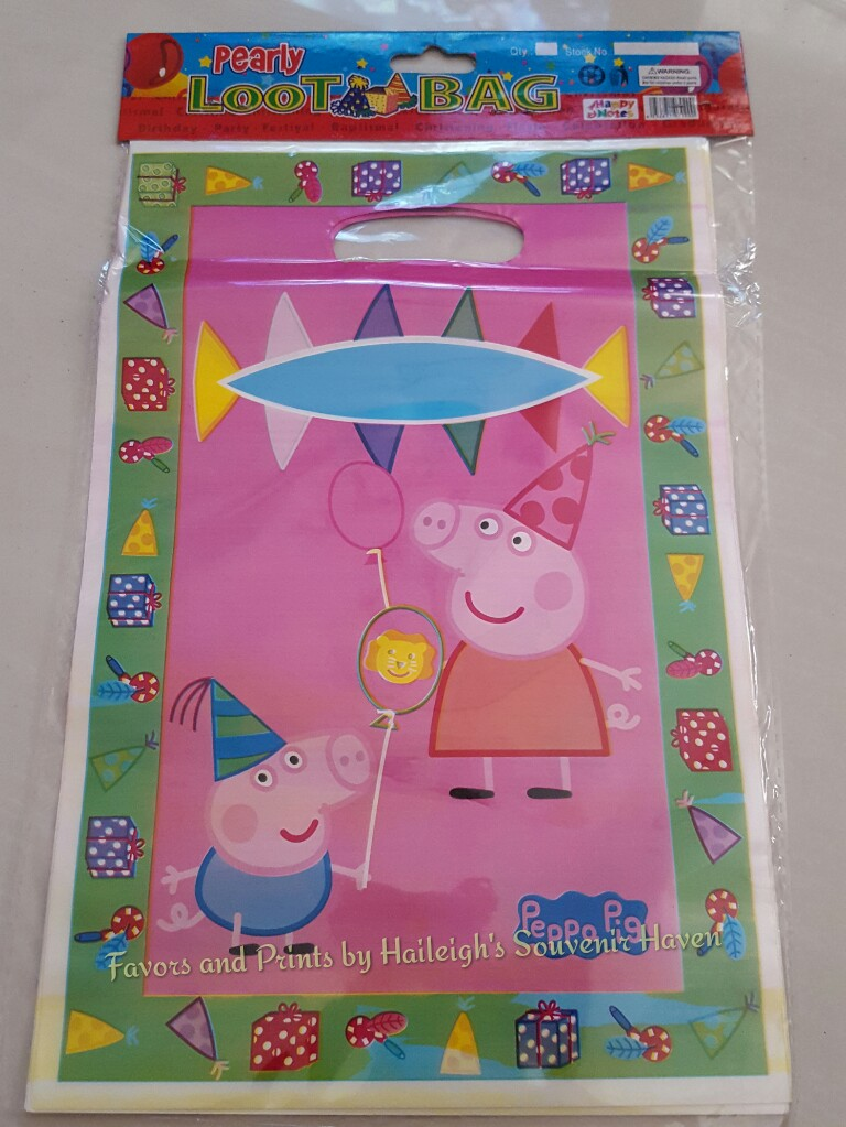 Peppa Pig Loot Bags (Small)