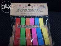 Wooden Clips / Clothespins (COLORED)