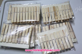 Wooden Clips / Clothespins (PLAIN, 10pcs/pack)